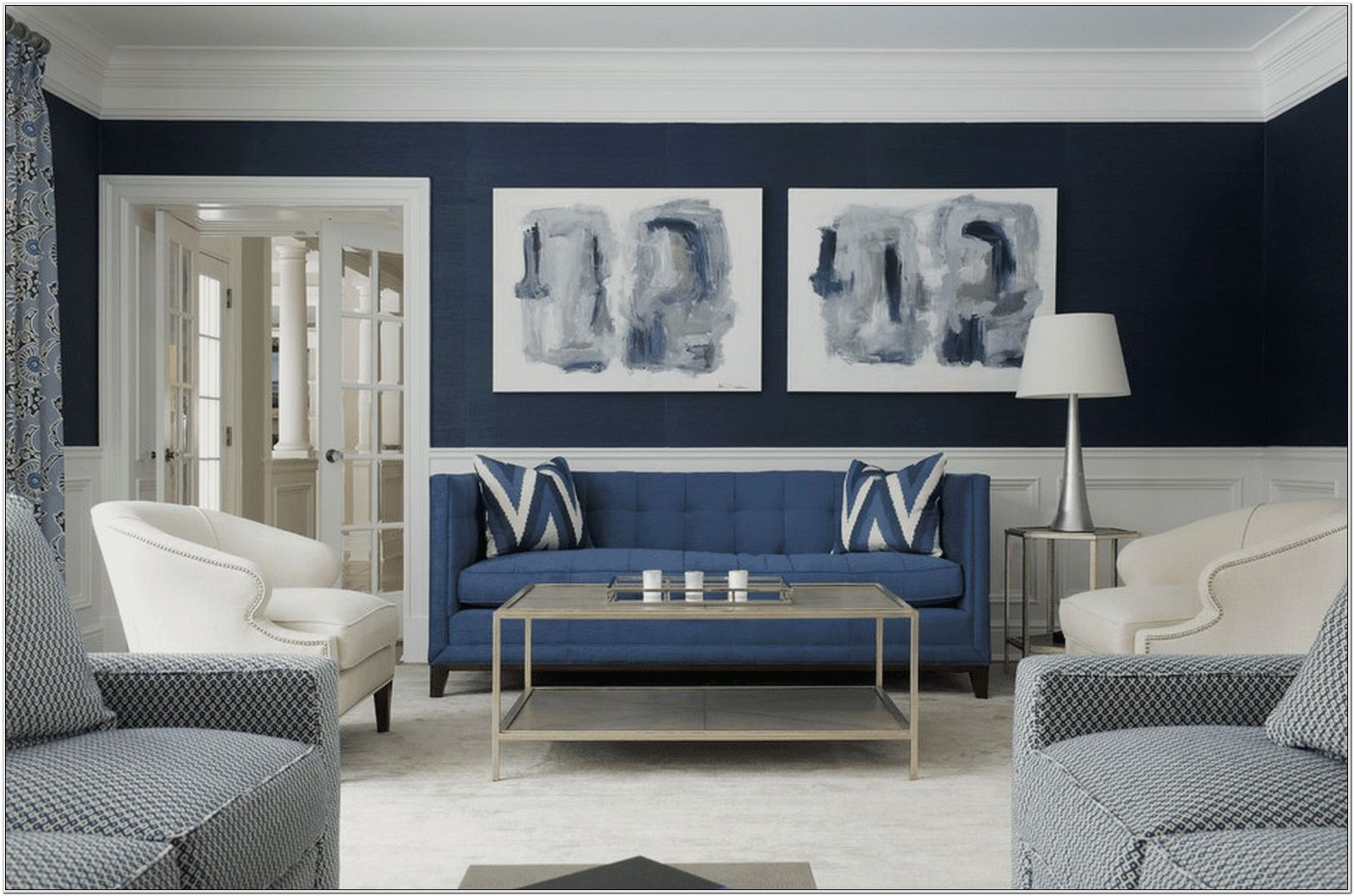 Living Room Ideas Blue And Gray