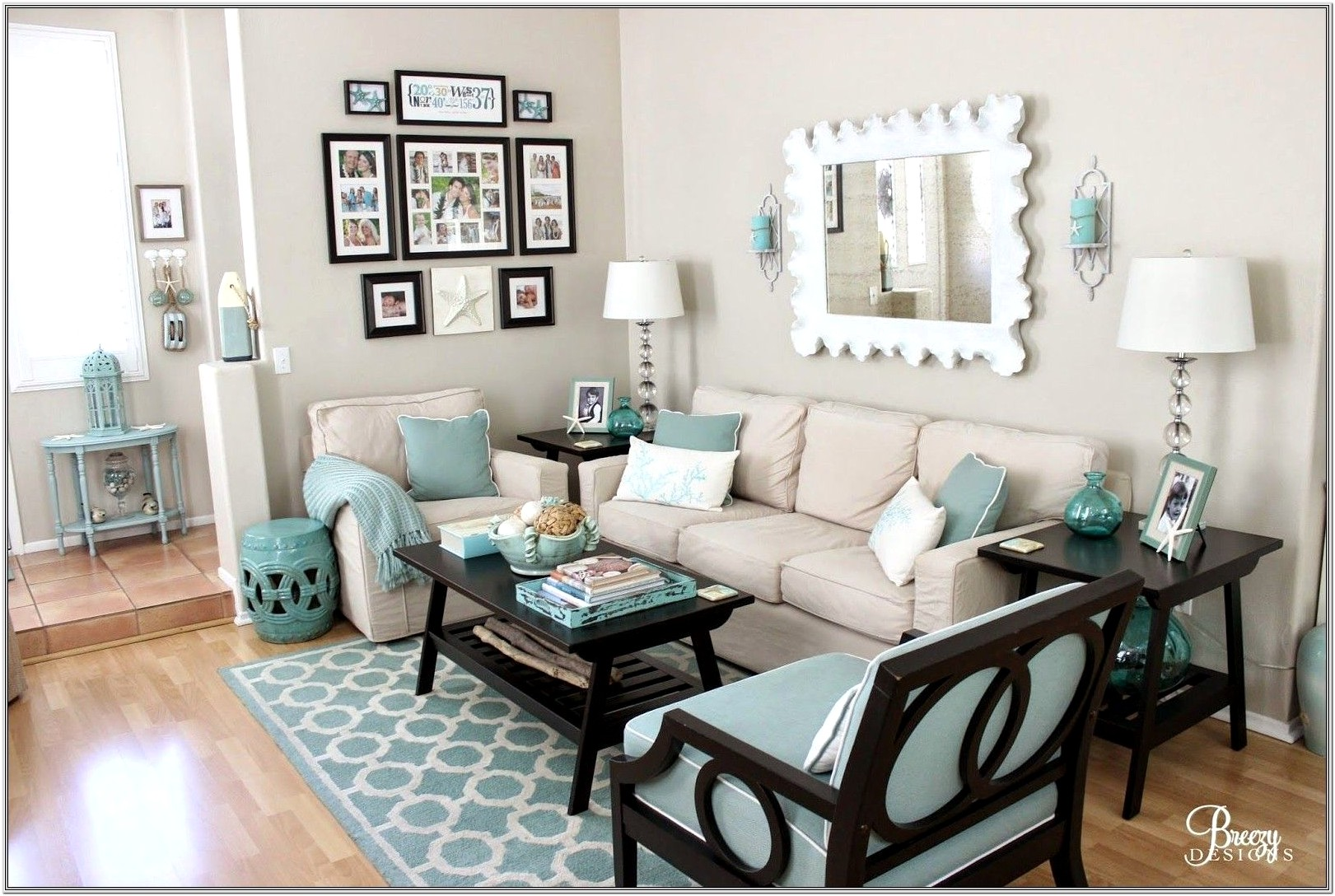 Living Room Ideas In Turquoise