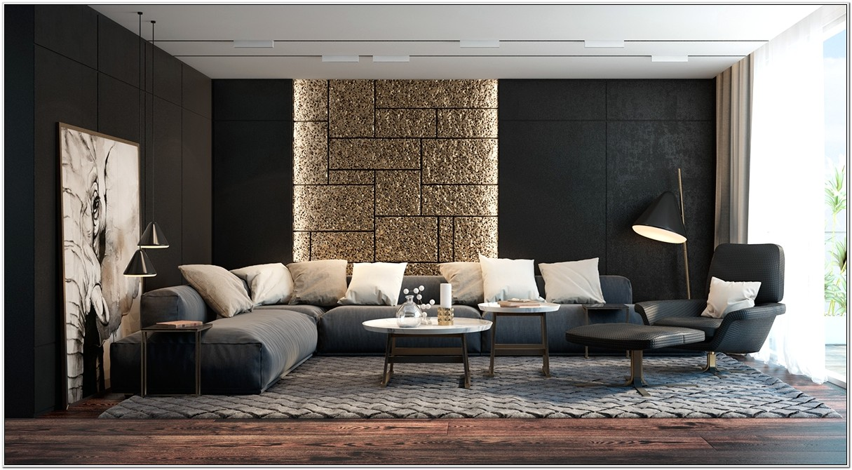 Living Room Ideas To Match Black Sofa