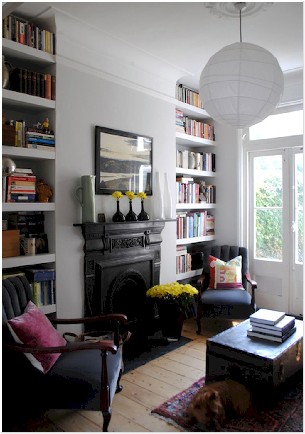 Living Room Ideas With Library