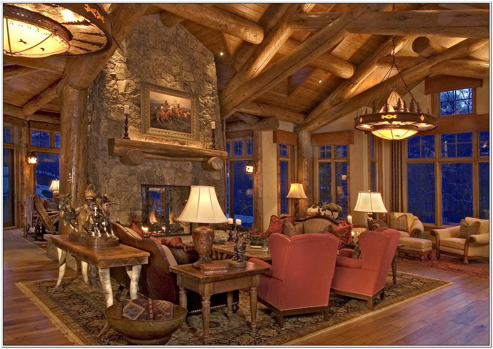 Living Room Log Cabin Ideas