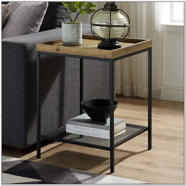 Living Room Metal Table Decor