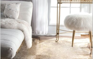 Living Room Sized Cowhide Rug Ideas
