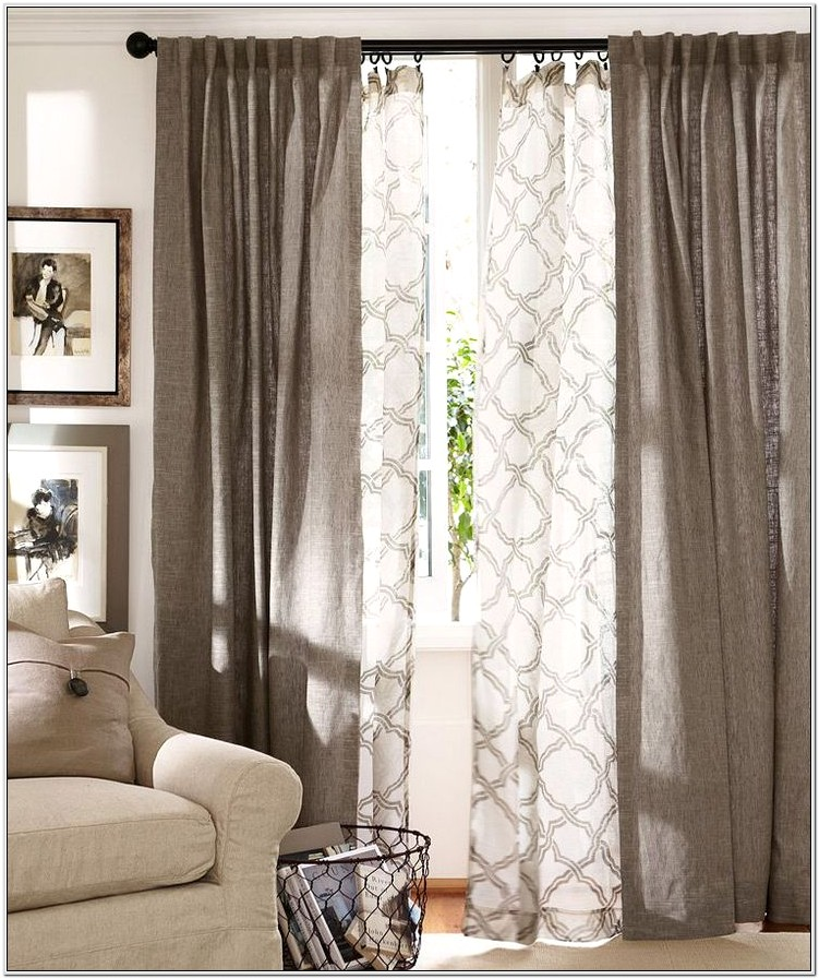 Living Room Sliding Door Curtain Ideas