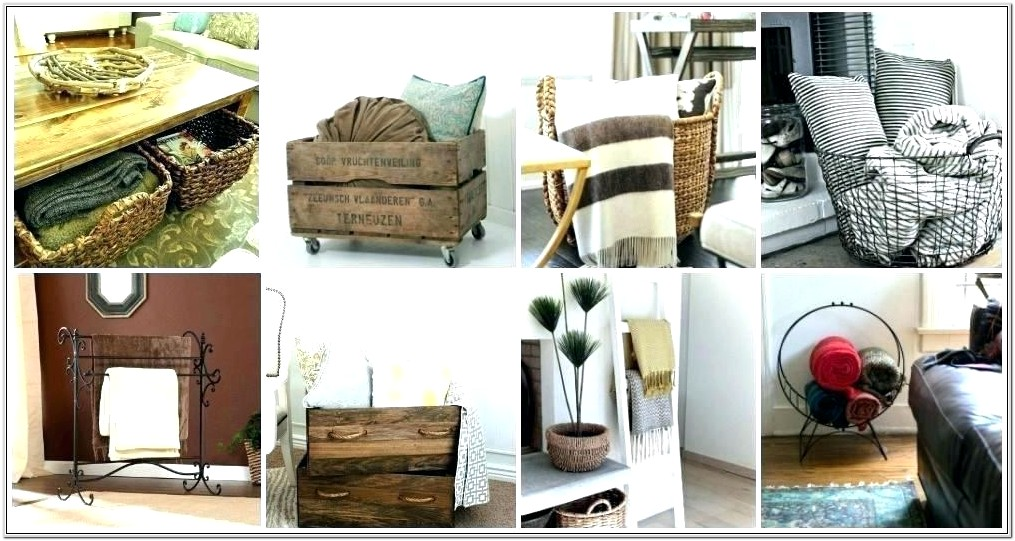 Living Room Storage Ideas For Blankets