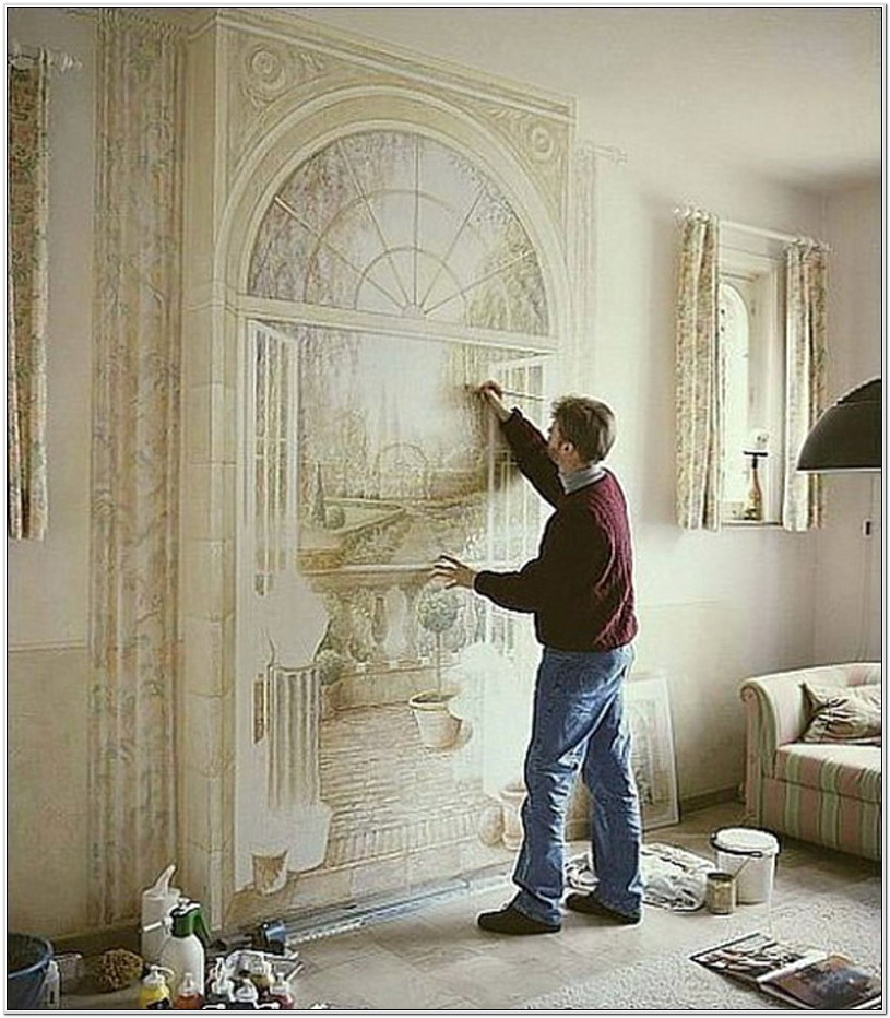 Living Room Wal Mural Ideas