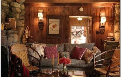 Lodge Living Room Decor
