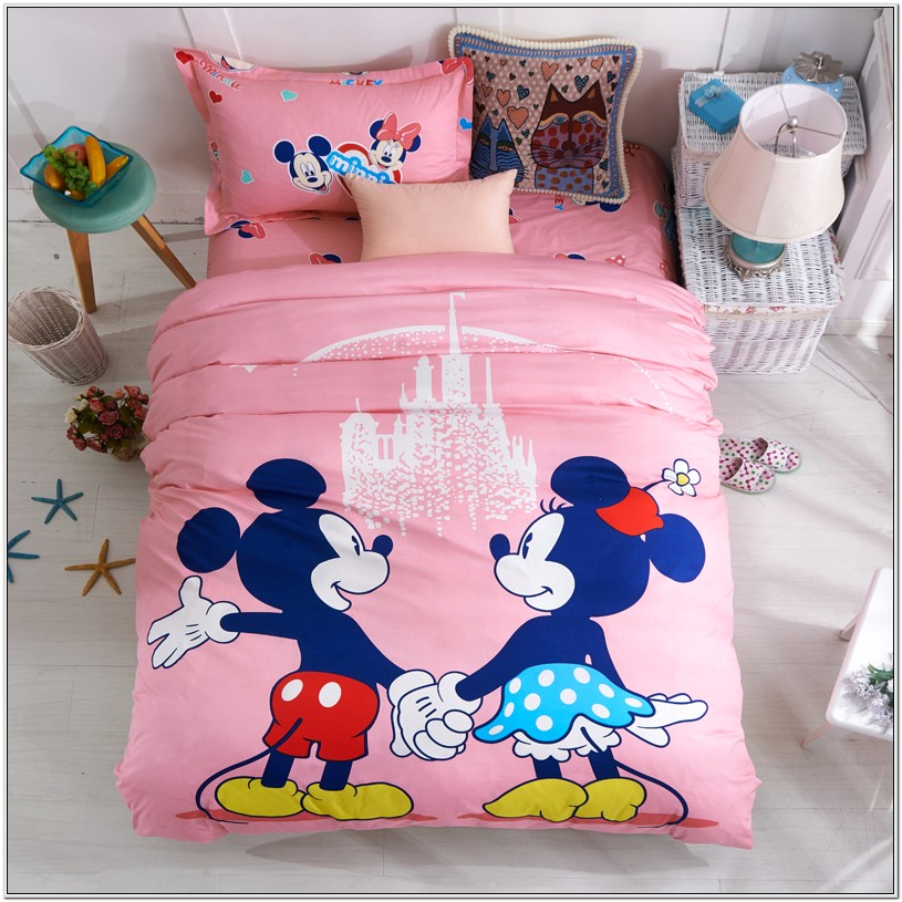 Mickey Mouse Pink Bedroom Decor
