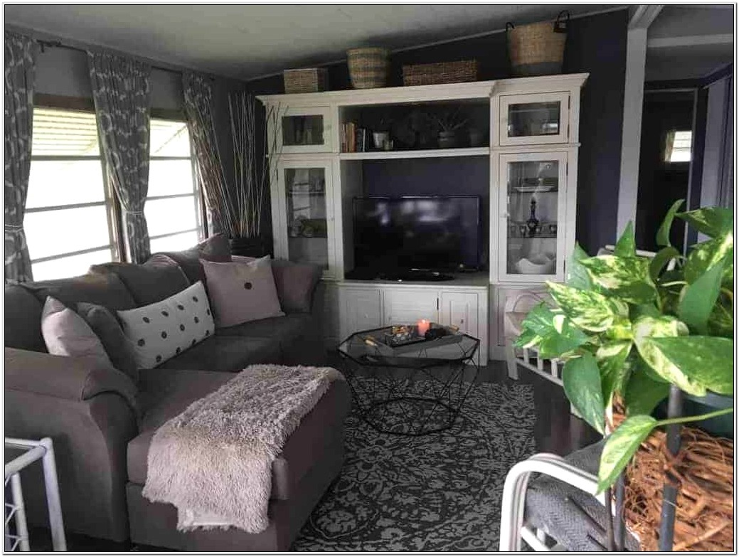 Mobile Home Living Room Decor Idea