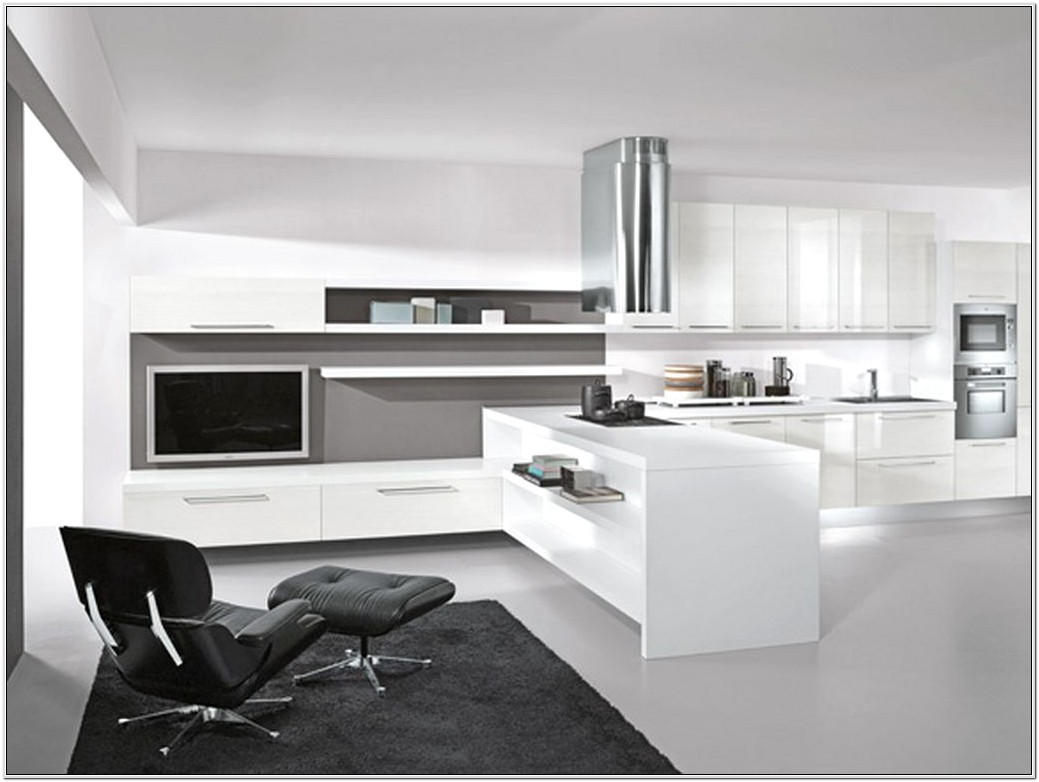 Modern Living Room And Kitchen Ideas