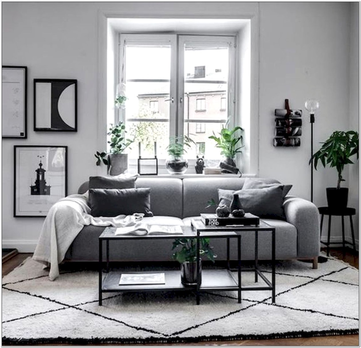 Modern Living Room Decor Black Grey