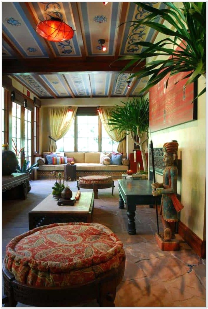 Moroccan Inspired Living Room Home Decor