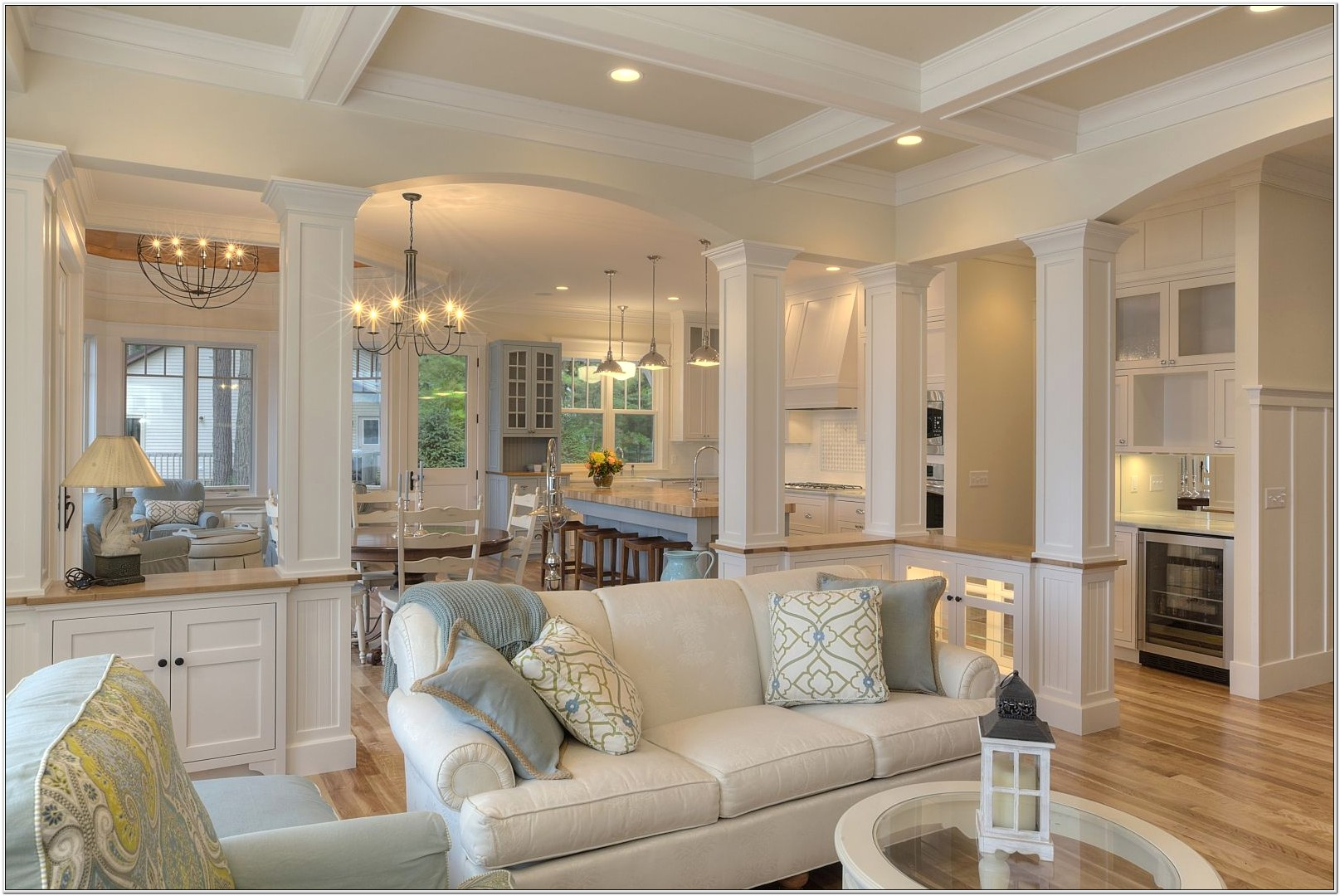 Open Living Room Divided Space Ideas