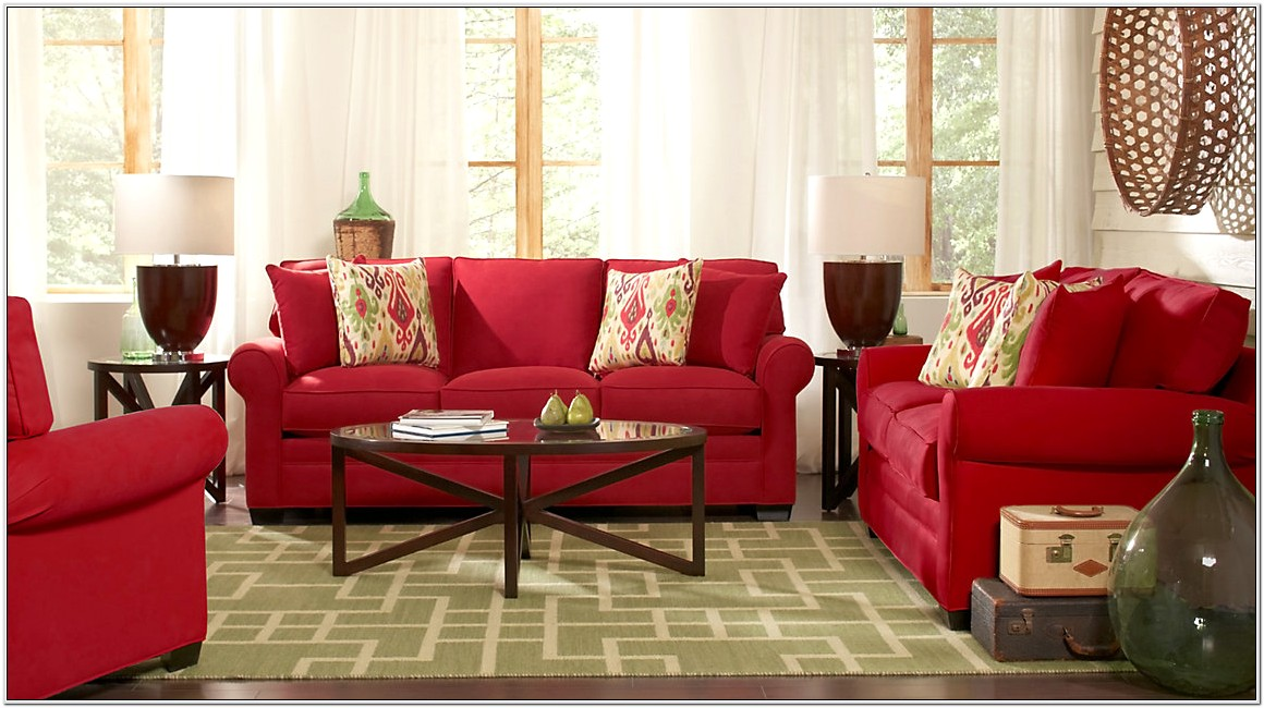 Red And Beige Living Room Ideas