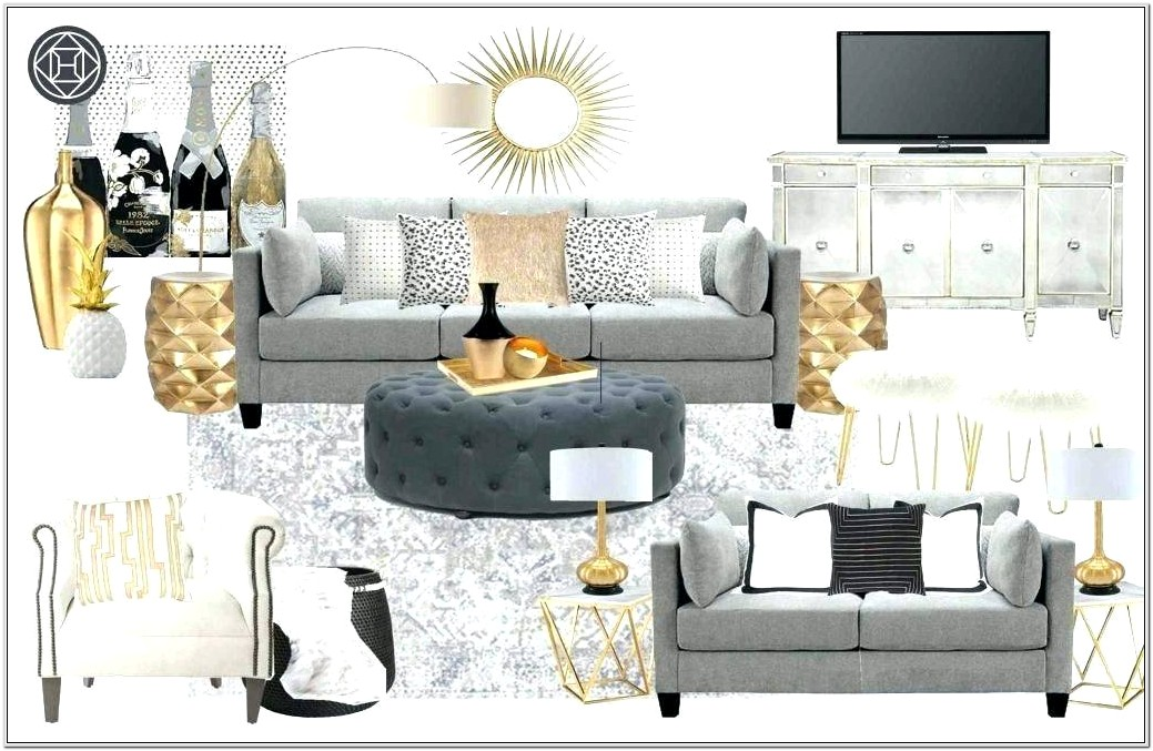 Rose Gold And Gray Living Room Ideas