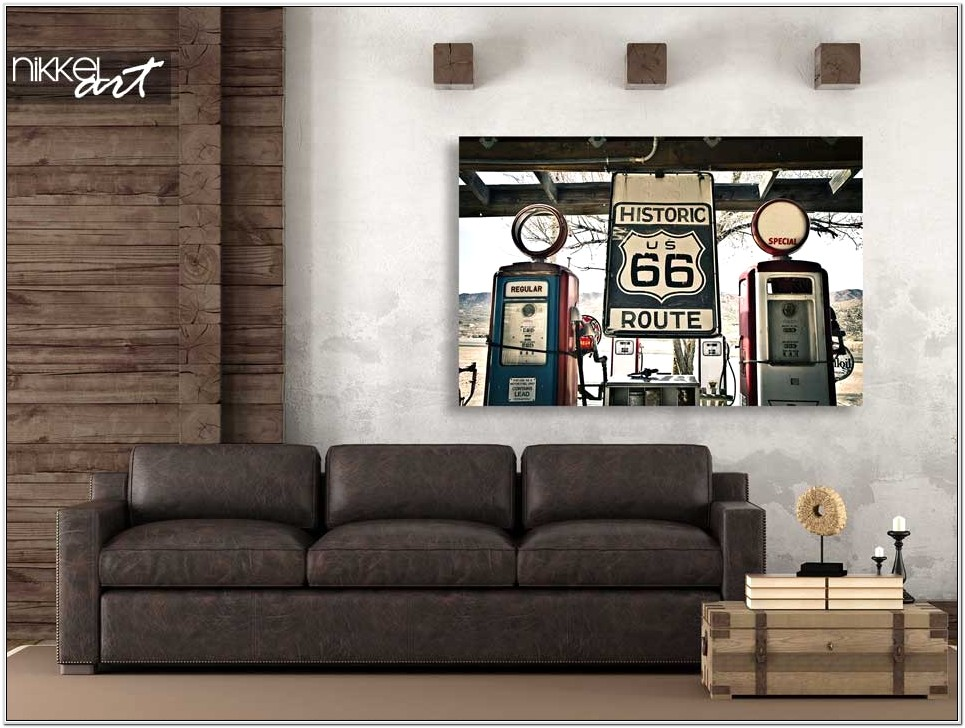 Route 66 Decor Ideas For Living Room