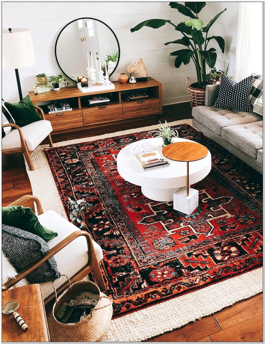 Rug Mid Century Idea Living Room