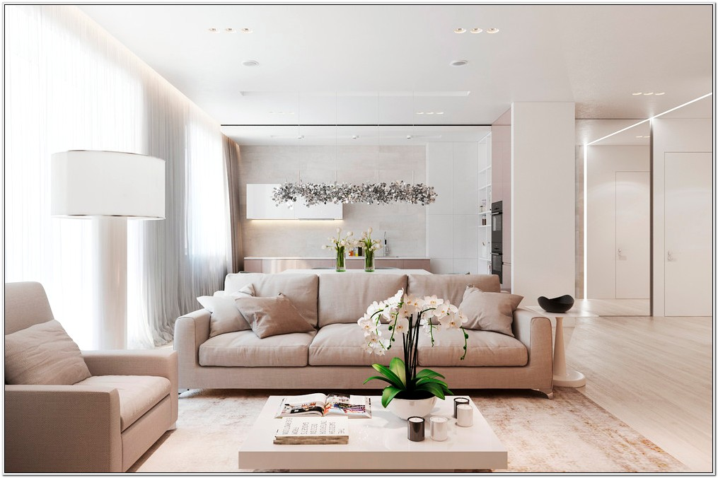Tan And White Living Room Ideas