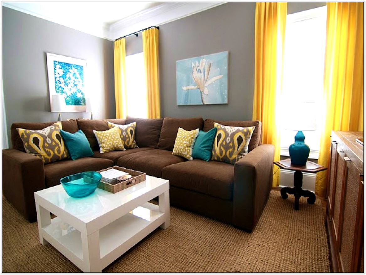 Turquoise And Yellow Living Room Ideas