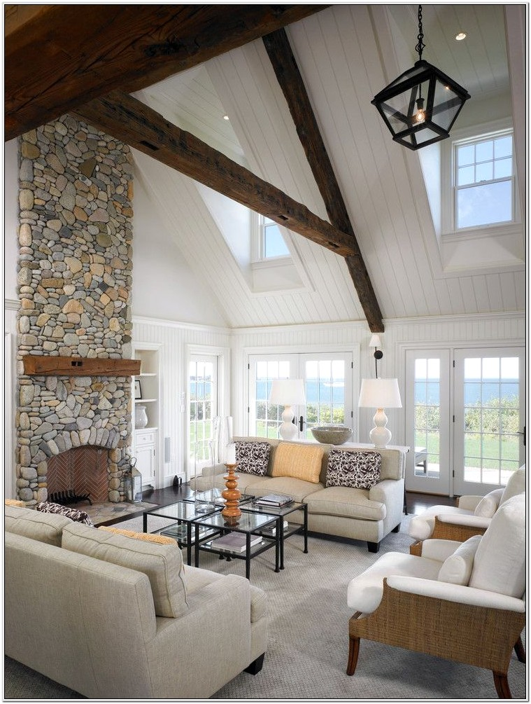 Vaulted Living Room Decorating Ideas