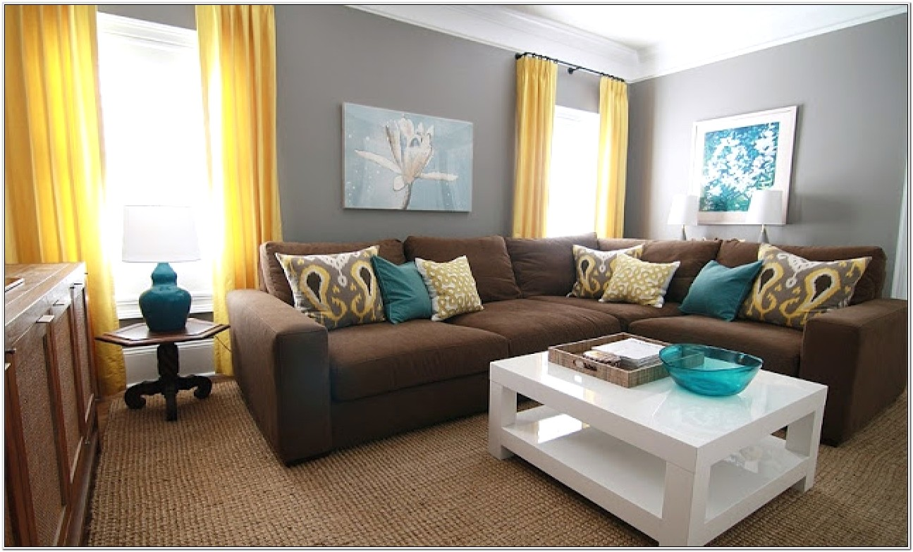 Yellow And Turquoise Living Room Ideas