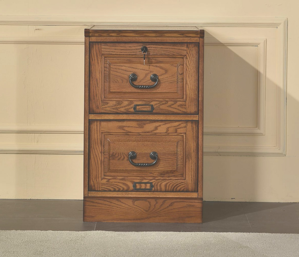 1 Drawer Oak File Cabinet