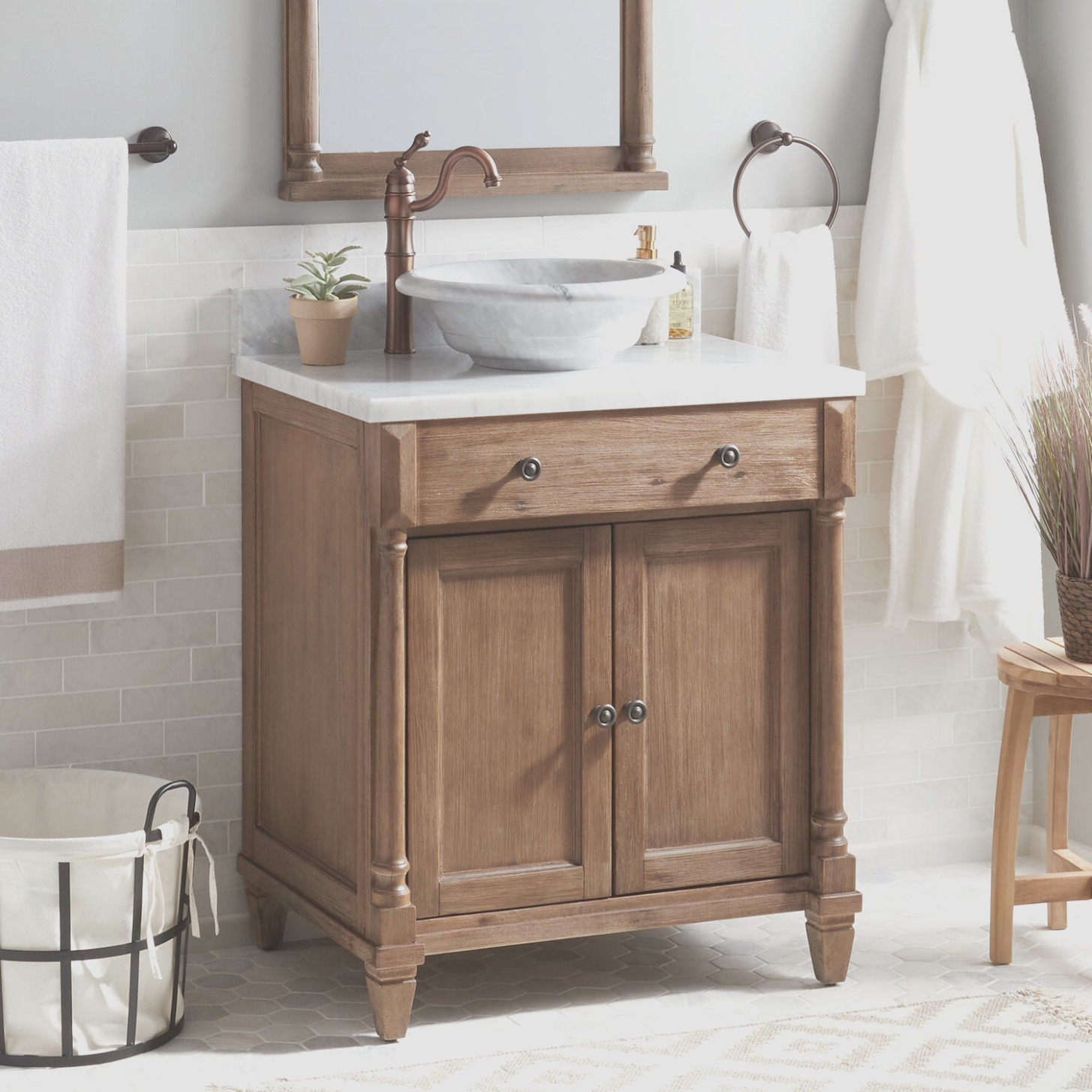 Bathroom Vanity Cabinet for Vessel Sink