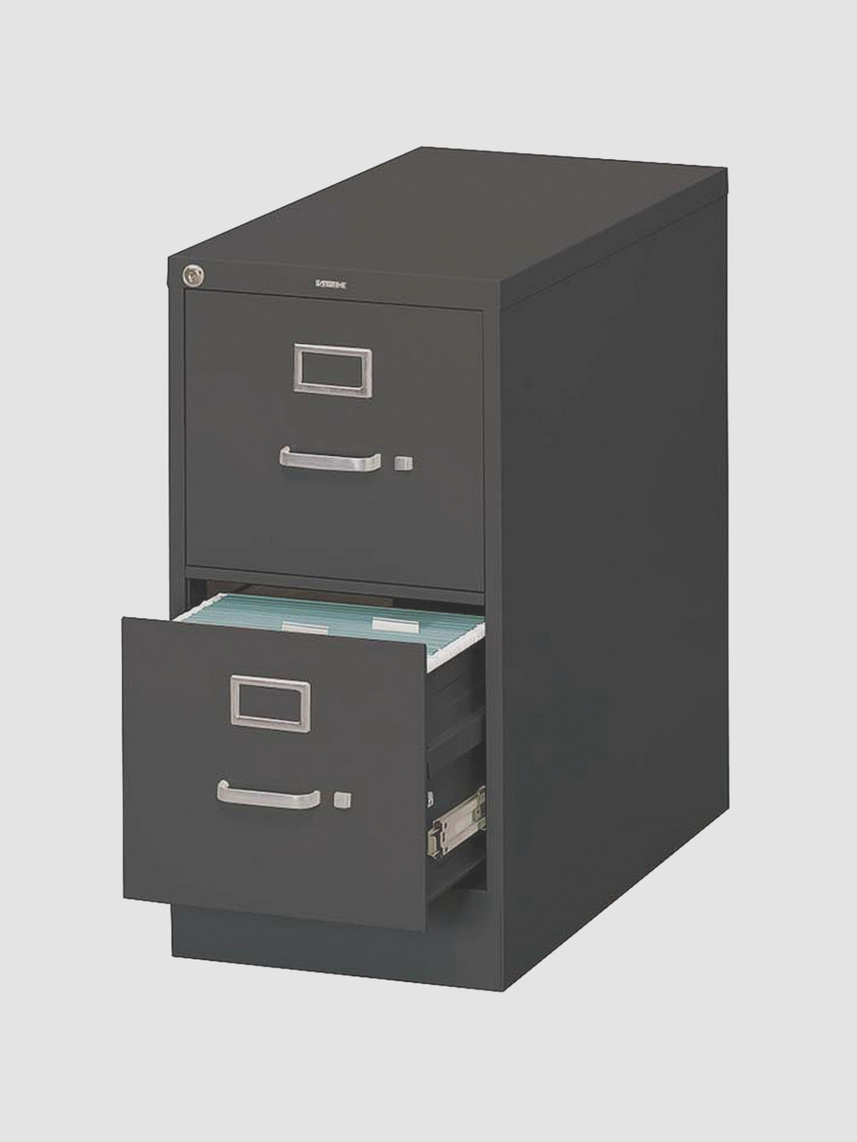 Black Metal Filing Cabinet 1 Drawer