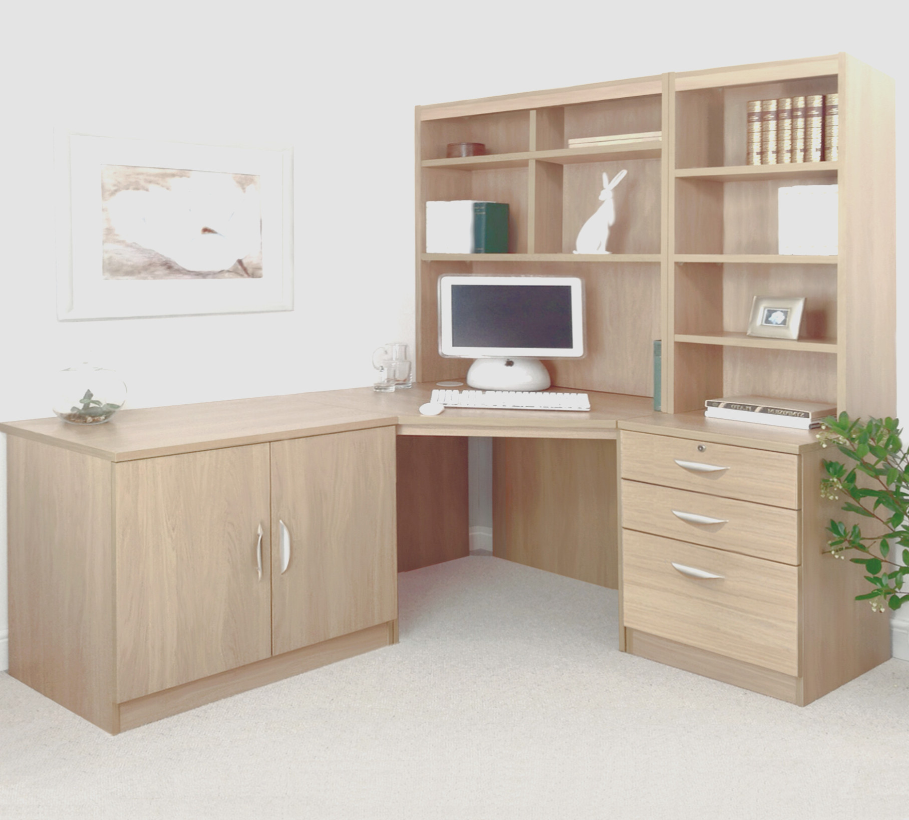 Corner Computer Desk With Cabinets
