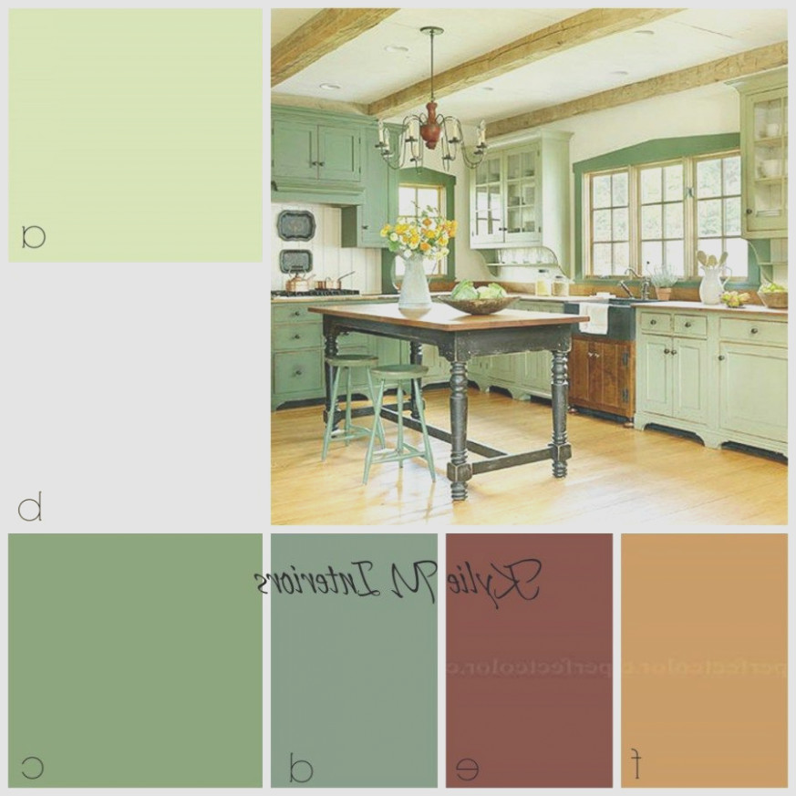 Country Kitchen Cabinet Colors