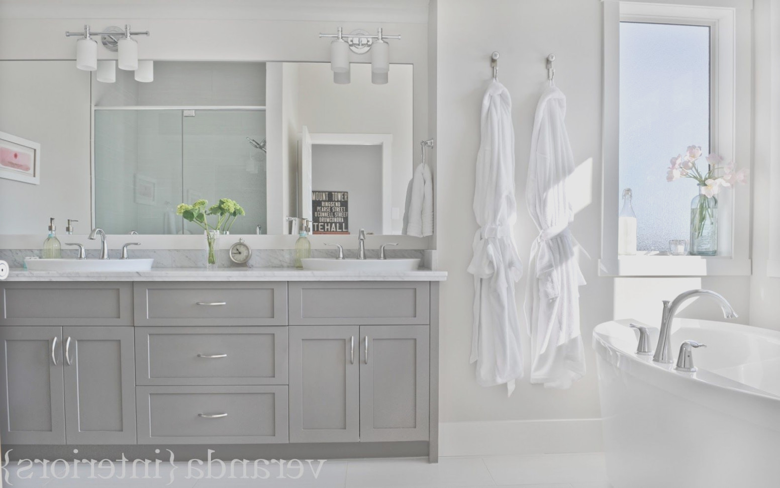 Gray Bathroom Vanity Cabinet