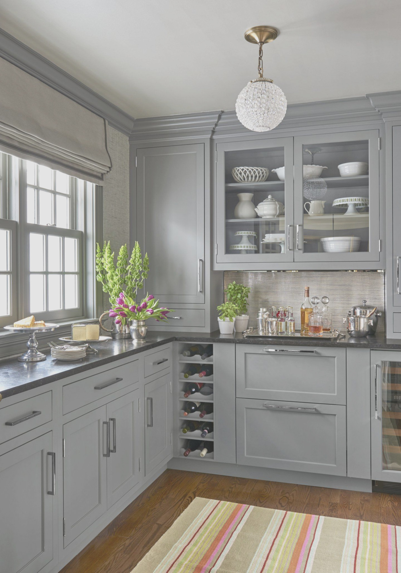 Gray Cabinets Black Countertop