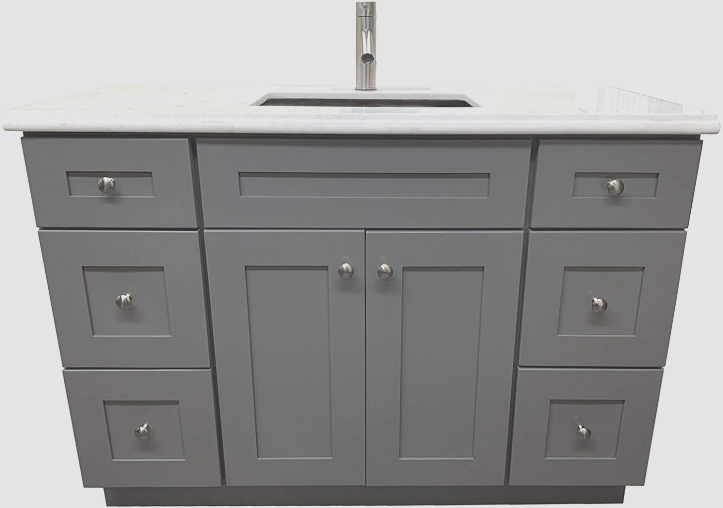 Grey Shaker Bathroom Cabinets