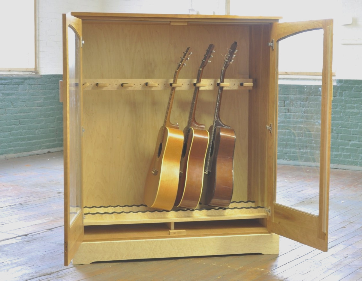 Guitar Storage Cabinet With Drawers