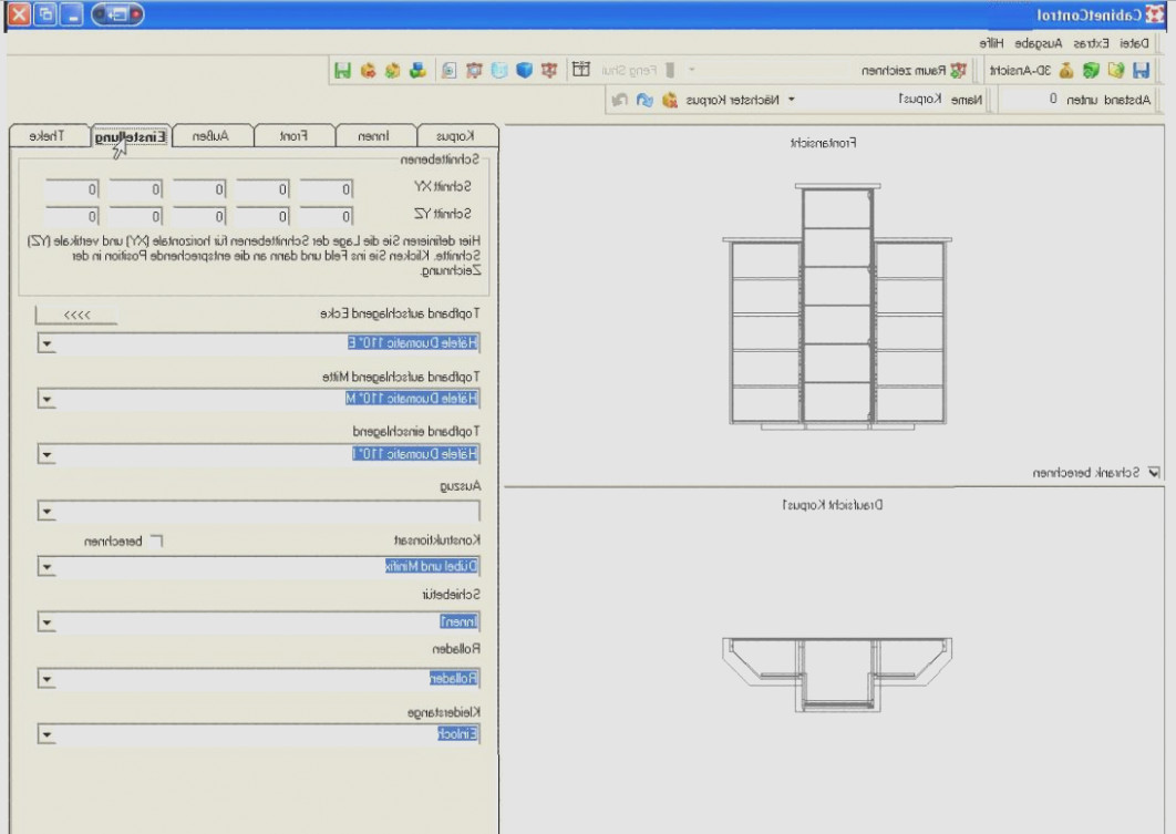 Holzher Cabinet Control Software