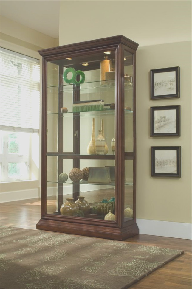 Pulaski Sliding Door Display Cabinet