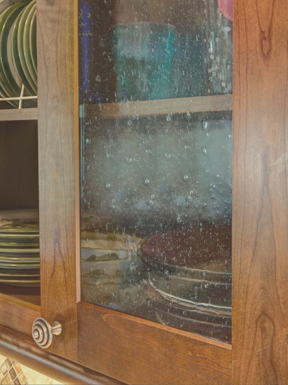 Seeded Glass Cabinet Doors