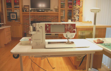 Inexpensive sewing table for the large Bernina 1/1 machines  - Sewing Cabinet for Bernina 830