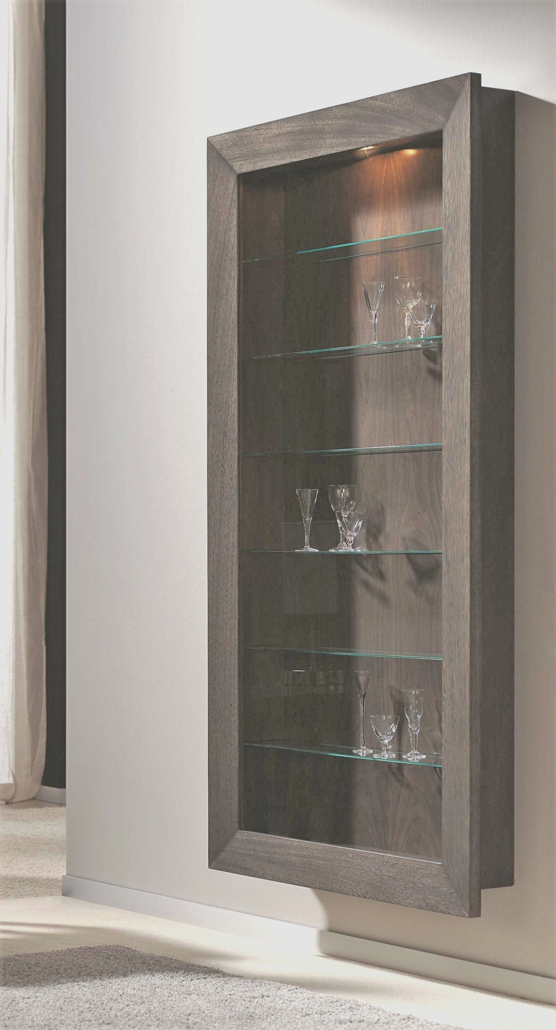 Shallow Glass Display Cabinet