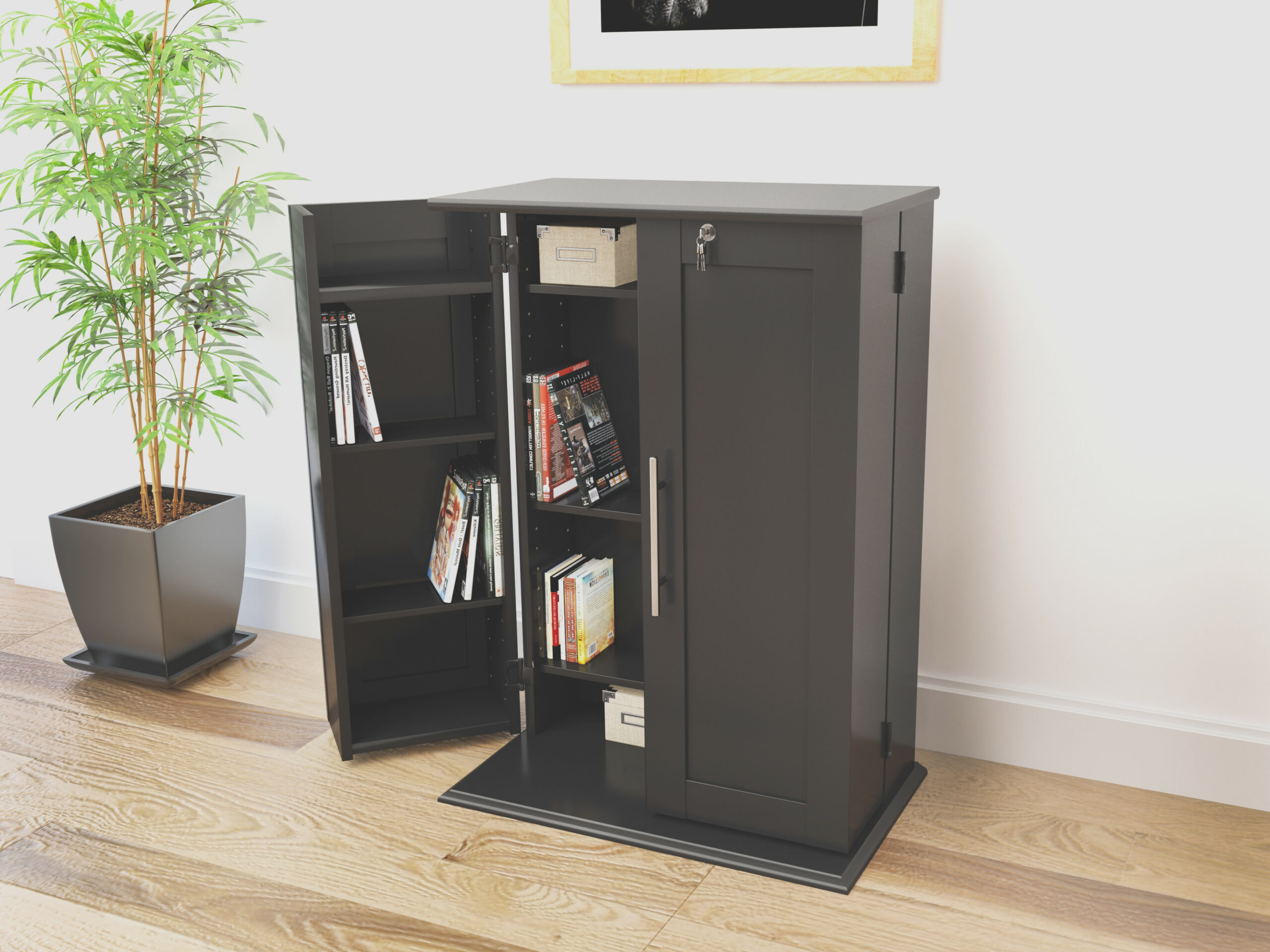 Small Cabinet With Doors and Shelves