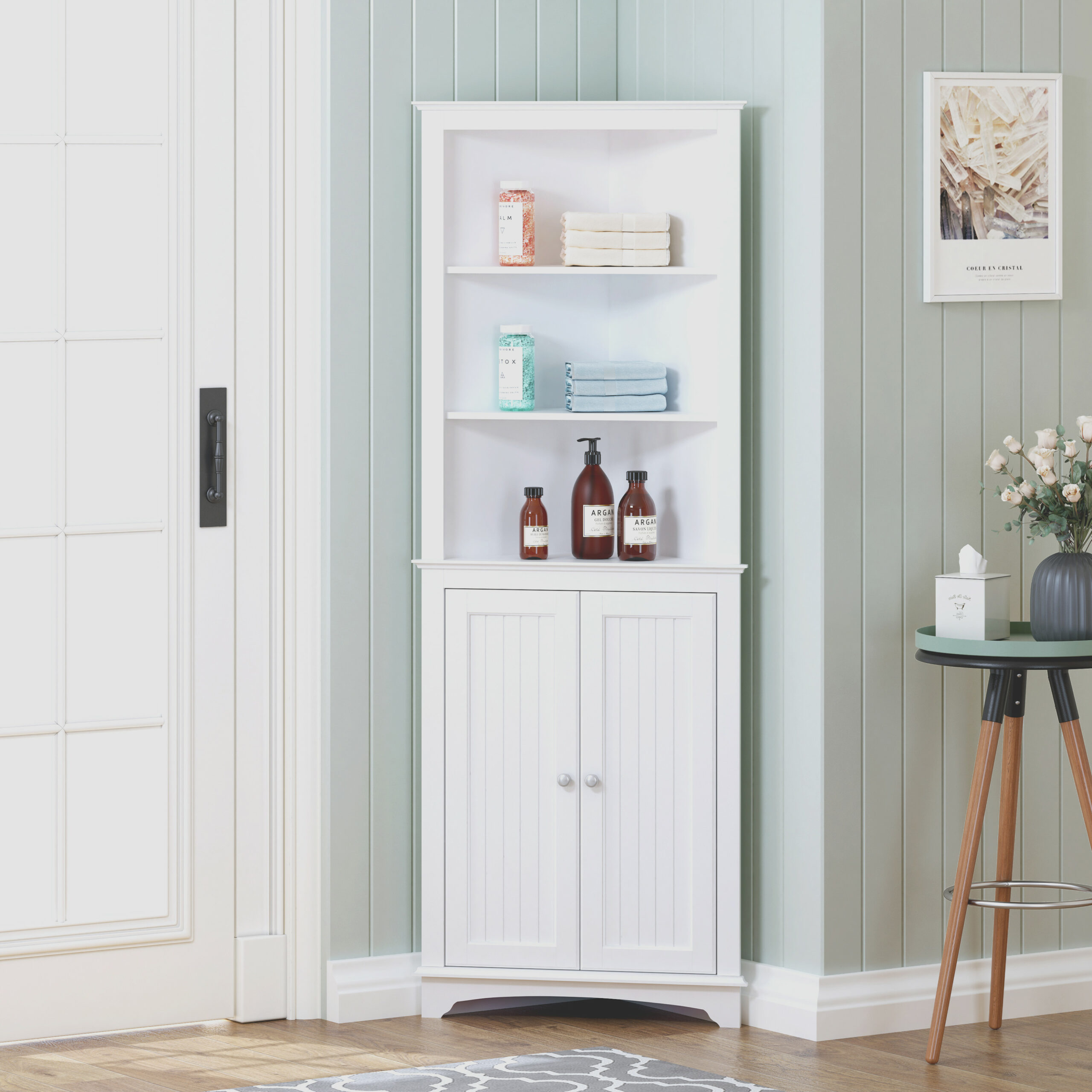 Tall Corner Storage Cabinet Furniture