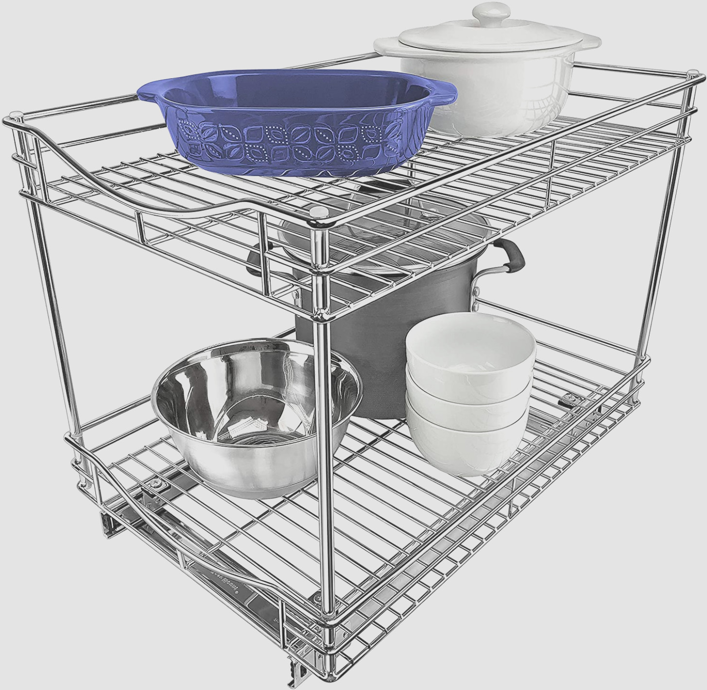 1 Tier Pull Out Cabinet Organizer