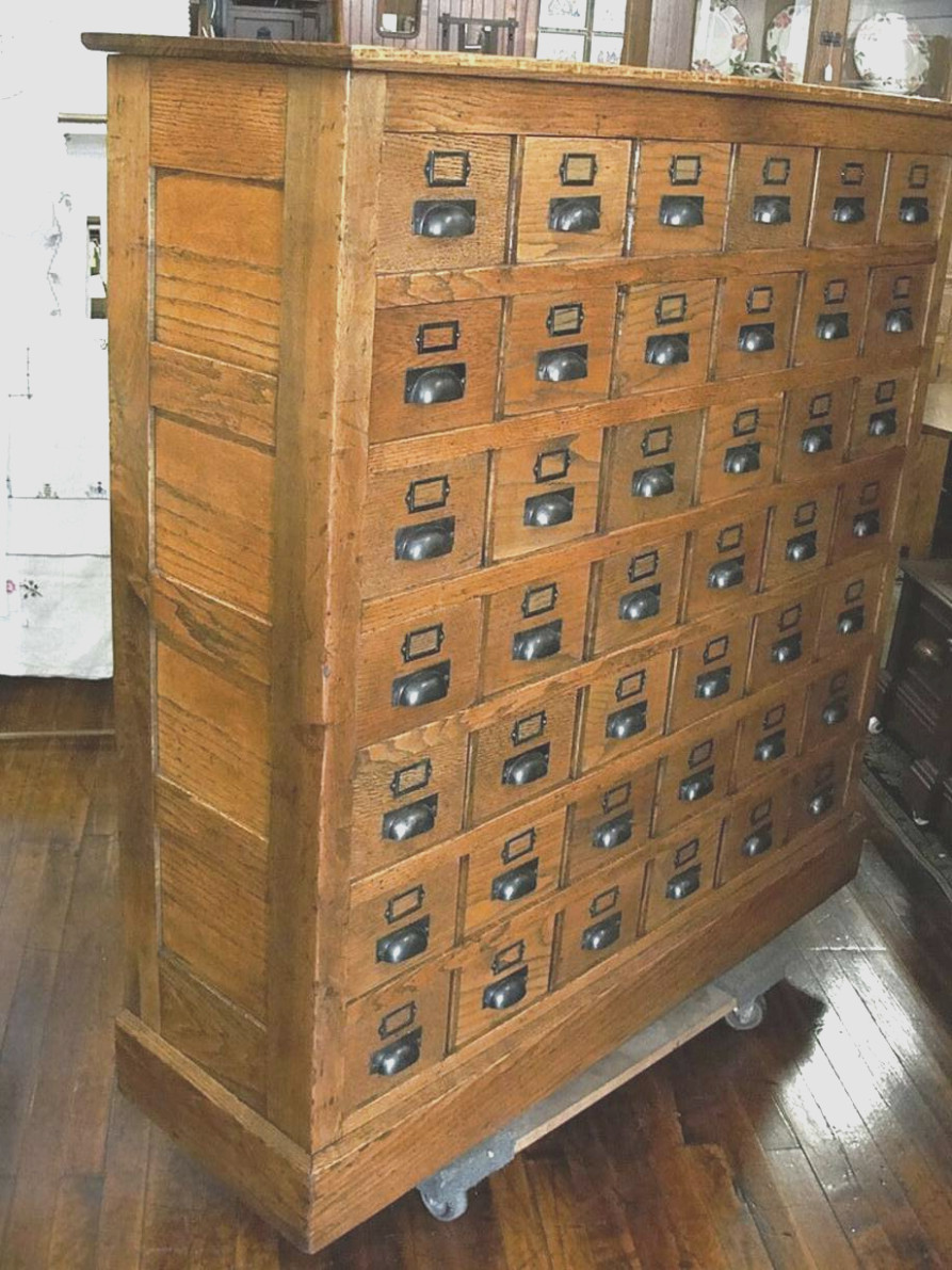Card Catalog Cabinet for Sale