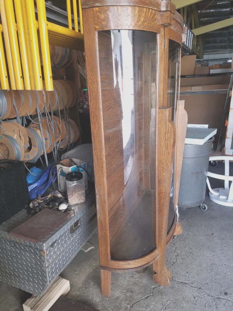 Curved Glass Replacement for China Cabinet