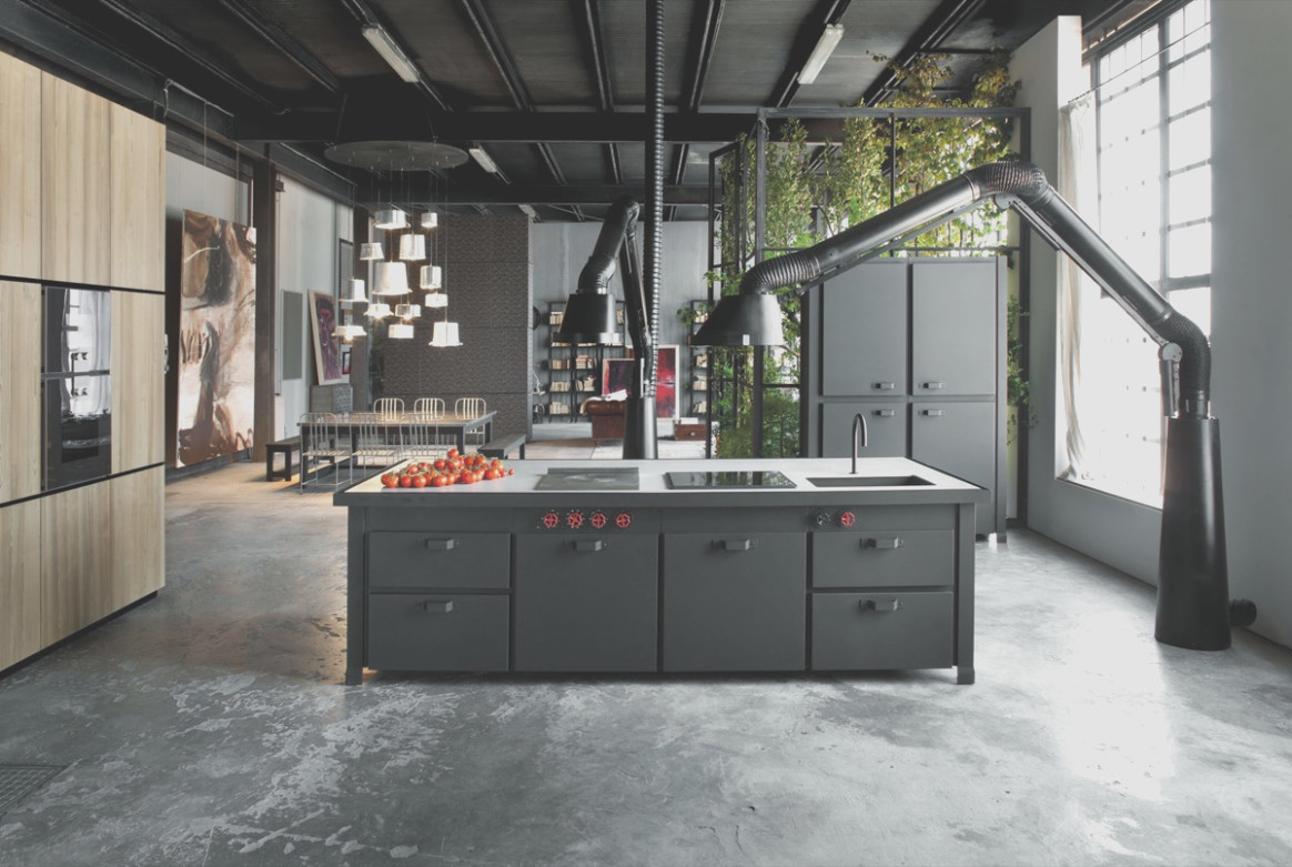 Industrial Look Kitchen Cabinets