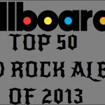 Billboard Top 50 Hard Rock Albums of 2013