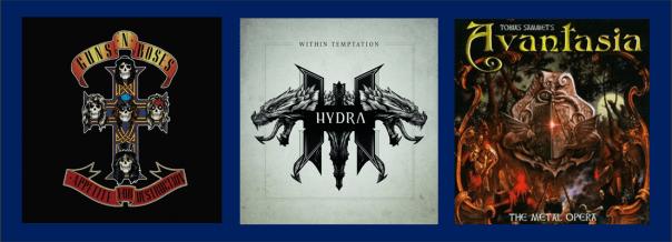 Three For Thursday - Guns N Roses, Within Temptation, Avantasia