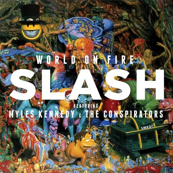 Slash featuring Myles Kennedy & The Conspirators World On Fire Album Cover