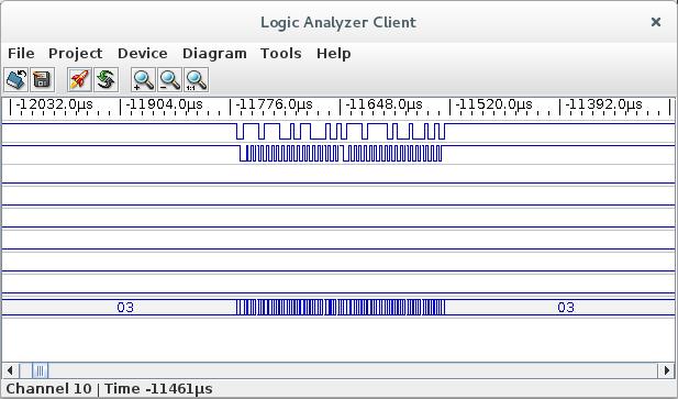 Capture d'une transaction sur i2c