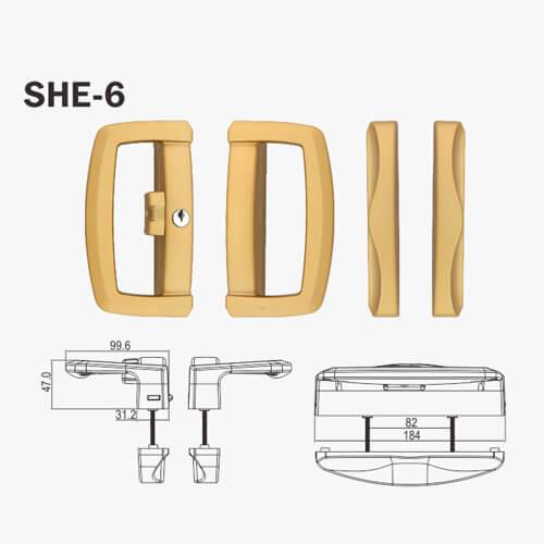 sliding patio door lock kit she series